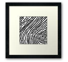 Skin of a zebra Framed Print
