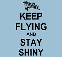 Keep Flying and Stay Shiny T Shirt Serenity Firefly Calm Carry Tee Browncoats T-Shirt