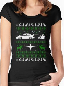 Subaru Ugly Christmas Women's Fitted Scoop T-Shirt