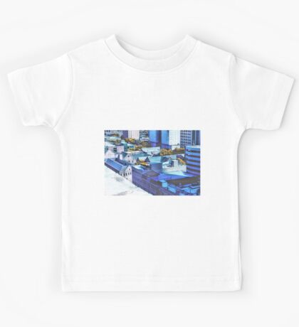 Downtown Houston Rooftops Kids Tee