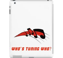 Who's Tuning Who Red iPad Case/Skin