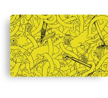Abstract - The Simpsons Canvas Print