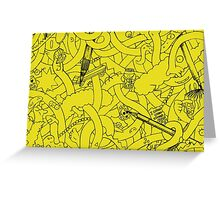 Abstract - The Simpsons Greeting Card