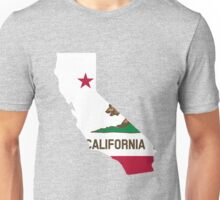 California outline with flag Unisex T-Shirt