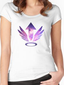 Mercy Logo - Galaxy Women's Fitted Scoop T-Shirt