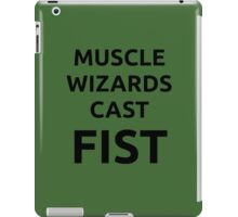 Muscle wizards cast FIST - black text iPad Case/Skin
