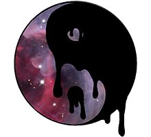 Drippy Space Yin Yang Photographic Print