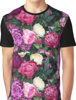 Pink/Purple Flowers Graphic T-Shirt