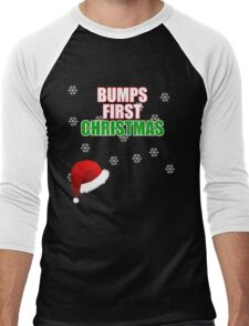 Cute Bumps First Christmas Shirt funny xmas maternity shirts Men's Baseball ¾ T-Shirt