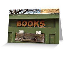 Books, books, books Greeting Card
