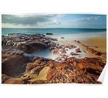 Red Rocks Beach #3 Poster