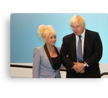 Barbara Windsor & Boris Johnson Canvas Print
