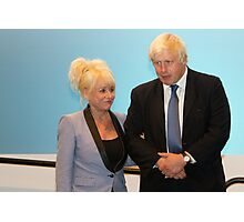Barbara Windsor & Boris Johnson Photographic Print