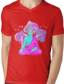 Trippy Buddha Mens V-Neck T-Shirt