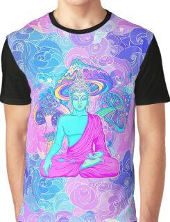 Trippy Buddha Graphic T-Shirt
