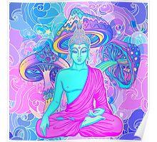 Trippy Buddha Poster