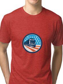 Diesel Train American Stars Stripes Retro Tri-blend T-Shirt