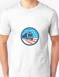 Diesel Train American Stars Stripes Retro Unisex T-Shirt