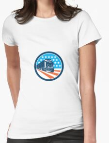 Diesel Train American Stars Stripes Retro Womens Fitted T-Shirt