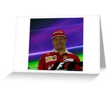 Kimi Raikkonen Ferrari 1 Greeting Card