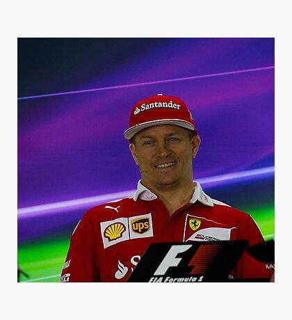 Kimi Raikkonen Ferrari 1 Photographic Print