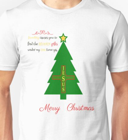MERRY CHRISTMAS HIDDEN GIFTS JESUS  T-SHIRT Unisex T-Shirt