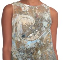 Abstract texture with scroll accent. Contrast Tank