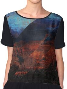 Deconstructing Time Altered Landscapes Grand Canyon Chiffon Top
