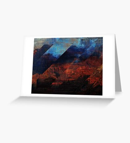 Deconstructing Time Altered Landscapes Grand Canyon Greeting Card