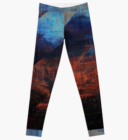 Deconstructing Time Altered Landscapes Grand Canyon Leggings