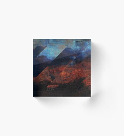 Deconstructing Time Altered Landscapes Grand Canyon Acrylic Block