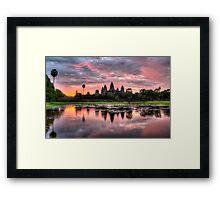 HDR Angkor Wat Sunrise Framed Print