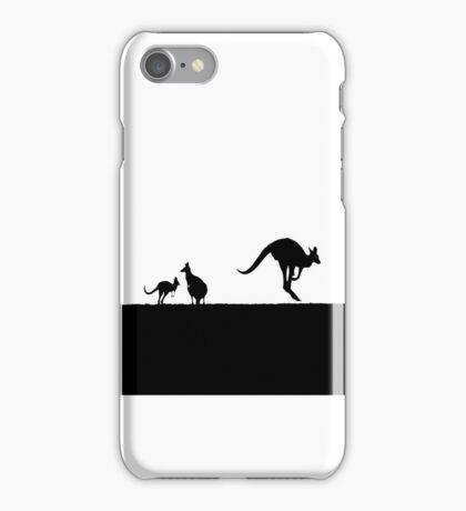 Kangaroos silhouettes at Sunset iPhone Case/Skin