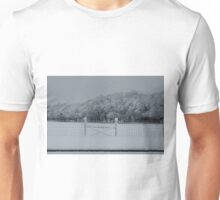 Fenced In Snow Unisex T-Shirt