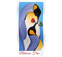 Between Friends - King Penguin Painting Poster