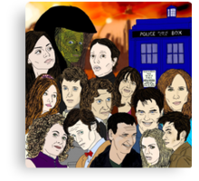 A time lords family Canvas Print