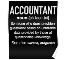 Accountant Definition Funny T-shirt Poster