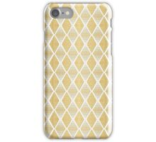 White & Gold Geometric Pattern iPhone Case/Skin
