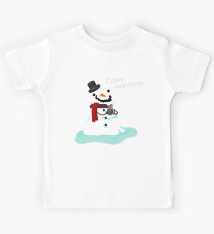 Snowman Who Loves Hot Cocoa Kids Tee