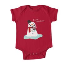 Snowman Who Loves Hot Cocoa One Piece - Short Sleeve