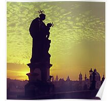 The Charles Bridge (Karlův Most) Prague Kodachrome 64 (SQUARE CUT) Poster