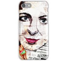 old book drawing famous people collage iPhone Case/Skin