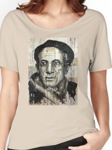 old book drawing famous people picasso bablo Women's Relaxed Fit T-Shirt