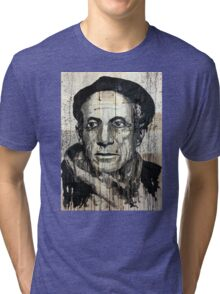 old book drawing famous people picasso bablo Tri-blend T-Shirt