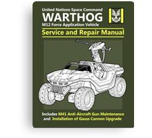 Warthog Service and Repair Manual Canvas Print