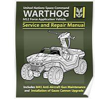 Warthog Service and Repair Manual Poster