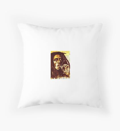 old book drawing famous people Throw Pillow