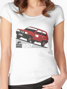 Fiat Panda personalized for June Women's Fitted Scoop T-Shirt