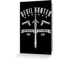 Devil Hunter Greeting Card