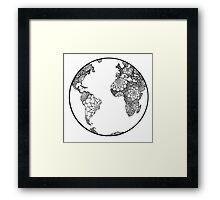 bohemian globe Framed Print